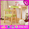 2015 Kids Study Table Chair Set, Kids Writing Table and Chair, School Wooden Table and Chair for Kids W08g157A