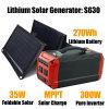 300W 12V Portable Solar Starter Kit Solar Power Generator with Solar Panel