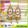 Latest Oval Shape Hanging Rhinestones Shamballa Earring #2783