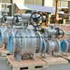 Cast Carbon Steel Worm Gear Operation Flange End Ball Valve