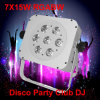 Dimming 7PCS 15W Rgabw Wireless PAR LED Disco Light
