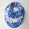 Lady Fashion Python Veins Printed Polyester Chiffon Infinity Scarf (YKY1097)