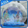 Inflatable Christmas Ornaments Ball for Photo / Christmas Inflatable Snow Globe / Take Photos Inflatable Snow Globe / Clear Bubble Tent