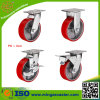 Heavy Duty Red PU Caster Wheels