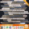 Golden Paper Glass Mosaic and Black Resin Mosaic (M855102)