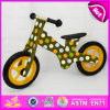Preschool Balance Push Wooden Children Bicycle, Wooden Balance Bike for Children, Brightly Colored Wooden Children Bicycle W16c117