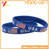 Custom USA Flag Silicone Wristband, Rubber Wristband