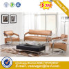 Modern Europe Design Steel Metal Leather Waiting Office Sofa (HX-S262)