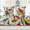 Home Textile Cotton Linen Woven Printed Cushion Cover for Cafe (35C0196)