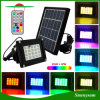 20 LED RGB Solar Flood Light with Remote Control for Garden Lawn Landscape Decoration