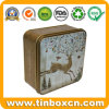 Square 3D Embossed Chocolate Biscuit Tin for Christmas Embossing Gifts