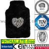 Heart Leopard Fur Plush Hot Water Bottle Cover