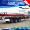 3/4 Axis 53ft Container15meters Platform Flat Bed Trailer