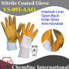 Interlock Glove with Anti-Microbial Orange Nitrile Coating & Open Back & Knit Wrist/ En388: 4121 (YS-091-AAO)