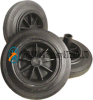 8X1.75 Flat Free Rubber Wheel for Dustbin