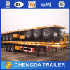 Low Price 3 Axle 40t Container Flat Bed Semi Trailer for Sale