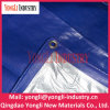 UV Treated Blue Silver Ready Made PE Tarpaulin with PP Rope and Aluminum Eyelet