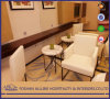Asian Modern Al-0608 Oak Solid Wood White Fabric Simplify Apartment Hilton Hotel Furniture Living Room Single Sofa