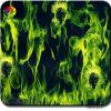 Tsautop 0.5/1m Width Flaming Skull Water Transfer Film Hydrographics Film