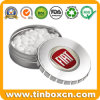 Custom Metal Gift Packaging Round Click Clack Candy Mint Tin