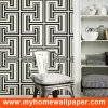 2017 Guangzhou Black and White Modern 3D Wall Paper for Home Decoration