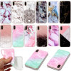 for iPhone X iPhone 8 Waterproof Thin Soft TPU Shockproof Marble Pattern Back Case Cover Chic Young