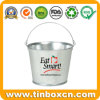 Galvanized Ice Metal Bucket with Food Grade, Tin Pail