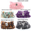 Natural Stone Bracelet 108 Mala Yoga Necklace Matte Amazonite Jewelry