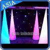 2.4m Inflatable Light Cone for Wedding Decoration, Infltable Lighting Tusk