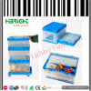 Color claro Plastic Collapsing Folding Crate Box con Lid