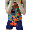 Boy's Monster Printed Tank Top with Short Pant Fashion Pajamas