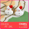 Christmas Snowman Decorated Button