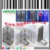 Foldable Metal Wire Mesh Grid Wheeled Rolling Pallet Cage