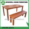 Solid Ash Wood Corner Bench Dining Table (W-DF-0637)