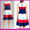 Latest High Neck Sleeveless Stripe Dress for Women (B-0035)