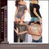 Wholesale Women Fashion One Shoulder Sequin Top Cotton Blouse (25078)