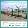 Welded Mesh Airport Chain Link Fence Top Barbed Wire