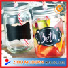 Mason Jar with Chalk Borad Paint & Tin Lid