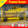 Lode Gold Ore Mobile Mining Rotary Screen Trommel Washing Plant for Processing Lode Gold