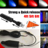 12V RGB Whips LED Light with Fiber Optic Pole Atu UTV Trucks Yellow White LED Antenna Whip Sand Car