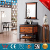 Underounter Basin Mirrored Vanities Solid Wood Cabinet by-F8081