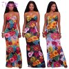 Sexy Summer Multi-Color Print Long Ladies Dress (L5018)