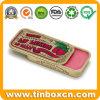 Slider Small Metal Cosmetic Box Lip Balm Golden Sliding Tin