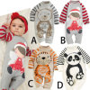 Cartoon Animal Romper Jumpsuit Outfits Costume for Baby Kids Toddlers, Long Sleeved