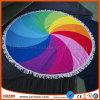 Reactive Printing Microfiber Beach Towel with Tassel
