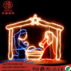 LED Lighting H: 2m* L: 3m Nativity Manger Scene Luces De Navidad Christmas Decoration Light