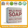 3.5oz/100g Luxury Metal Soap Tin with Square Shape for Cosmetics
