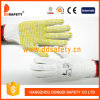 Ddsafety 2017 Hot Selling Knitted Cotton Gloves with Yellow PVC