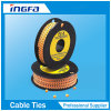 Yellow PVC Circle Cable Markers Strips for Wire Clearing