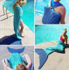 Custom Hot Sale Home Sofa Knitted Mermaid Tail Blanket